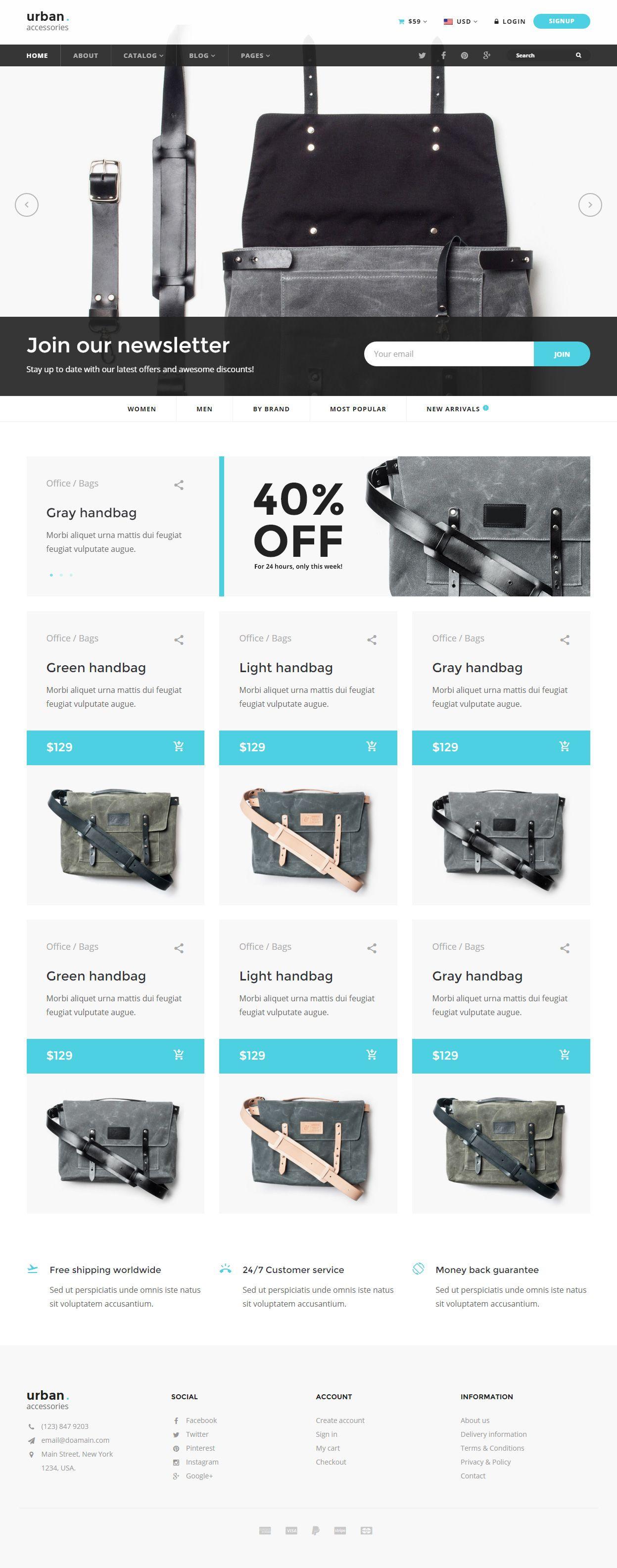 Urban Accessories Premium Responsive HTML5