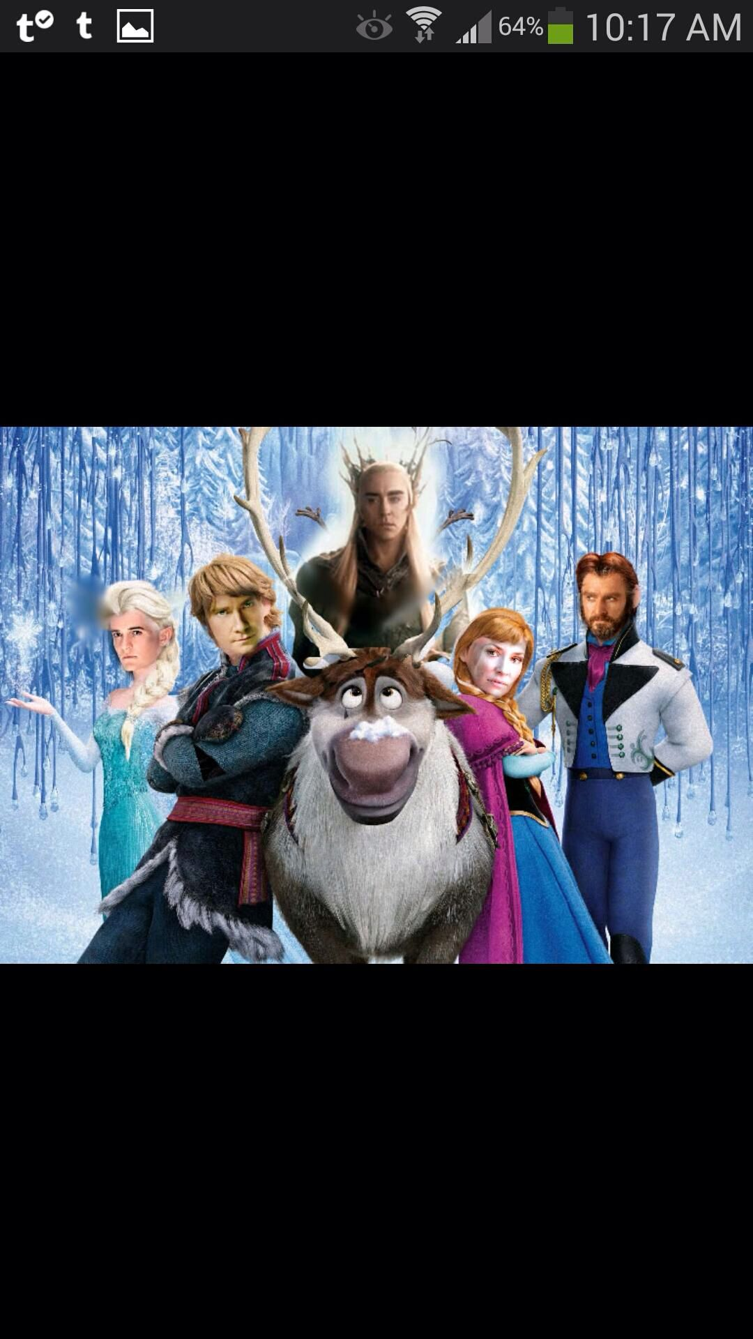 Frozen meets the hobbit. This is genius! I died at Legolas////// Thorin is NOT Hans!!! More like Azog....