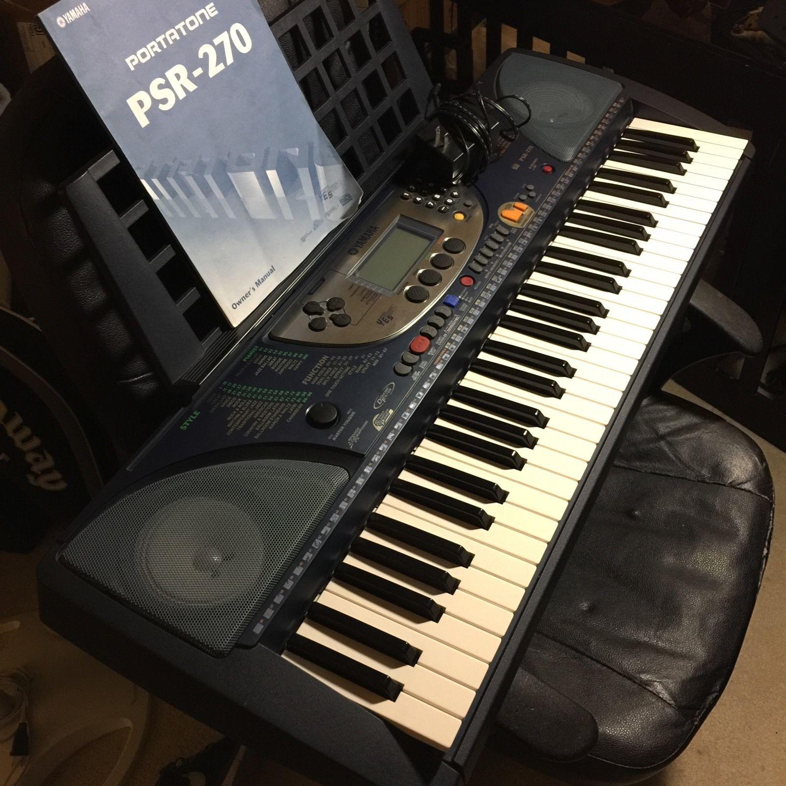 yamaha psr 270 portatone electronic navy blue keyboard synthesizer w rh pinterest com yamaha psr 270 service manual yamaha psr 270 manual español