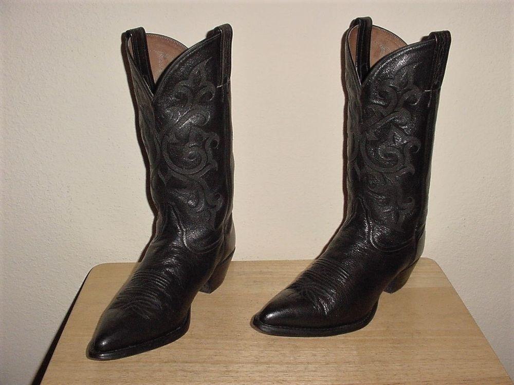 95b65fb5d3d TONY LAMA-WOMENS BLACK LEATHER QUALITY COWBOY/WESTERN BOOTS-sz 8.5 ...