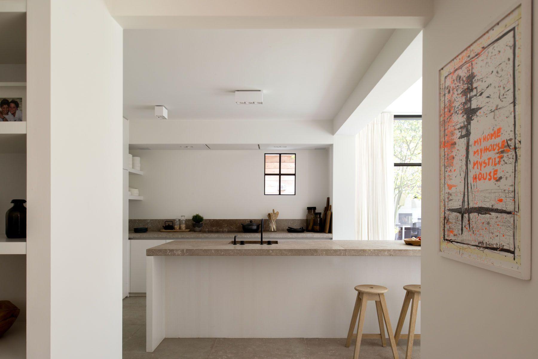 Puur wit met natuursteen oscar v interieur keuken