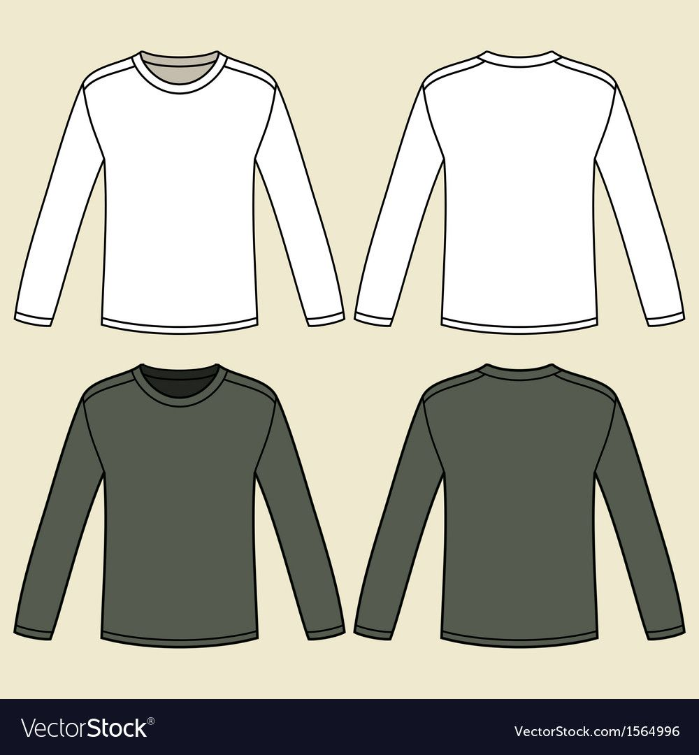 Blank Long Sleeved T Shirts Template Royalty Free Vector Sponsored Sleeved Shirts Blank Long Ad Shirt Template Shirt Sketch Long Sleeve Long sleeve shirt design template