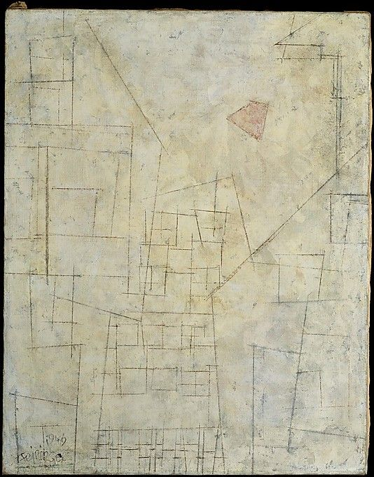 Lyonel Feininger Courtyard III 1949.oil. Met museum. Gift of Adelaide Milton DeGroot, 1967.Accession number 161.