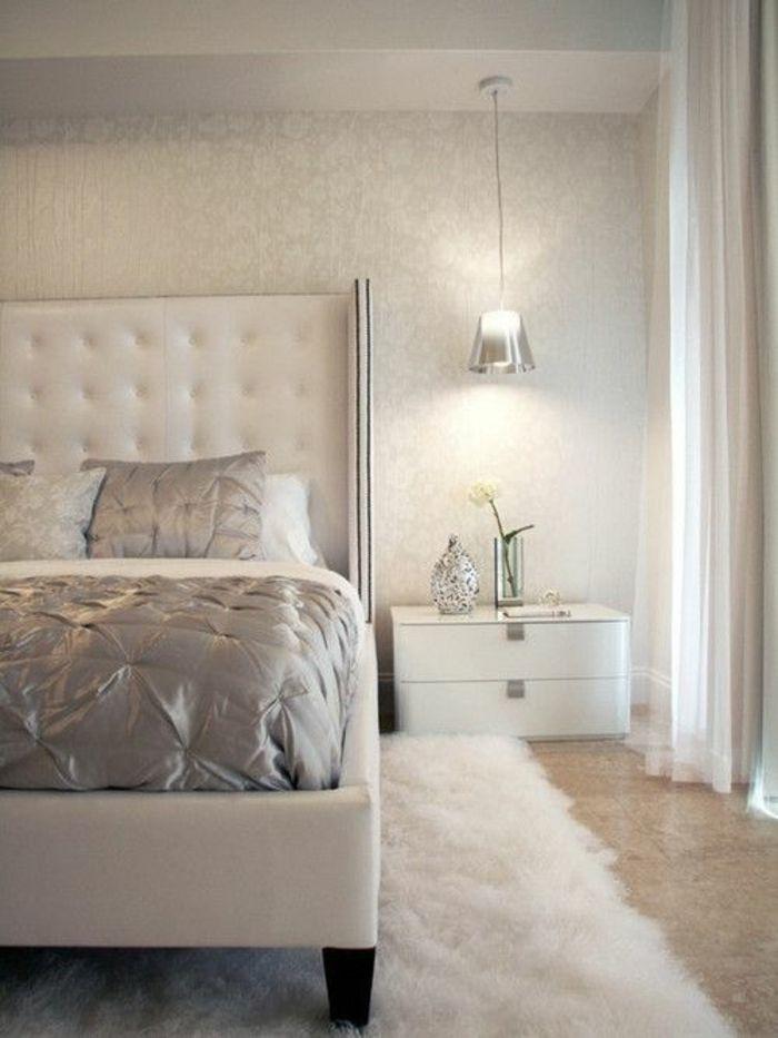 Tapete in Grau - stilvolle Vorschläge für Wandgestaltung - Archzine - schlafzimmer gestalten grau