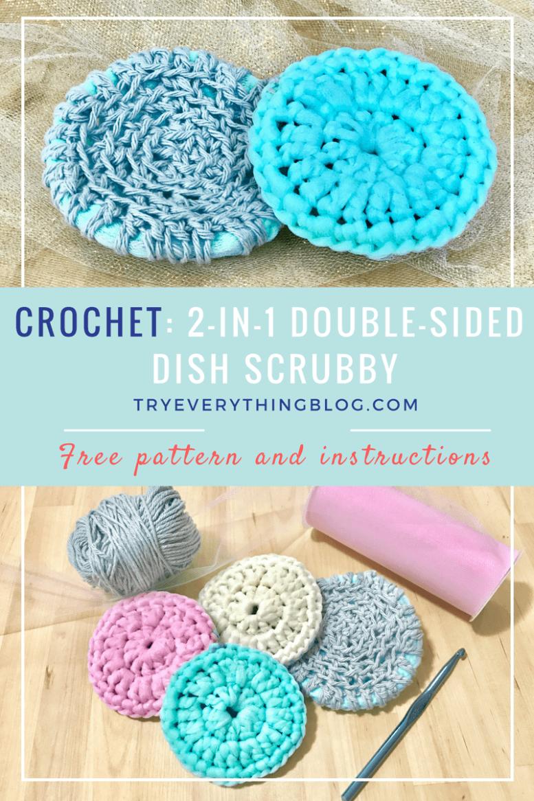 2 in 1 dish scrubby free crochet pattern no more sponges 2 in 1 dish scrubby free crochet pattern no more sponges bankloansurffo Gallery
