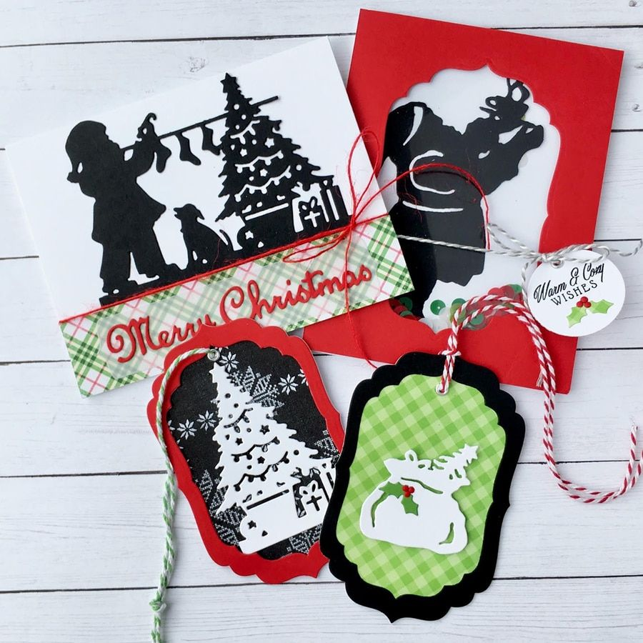 Spellbinders Shapeabilities Die Hanging StockingsA Sweet Christmas Collection
