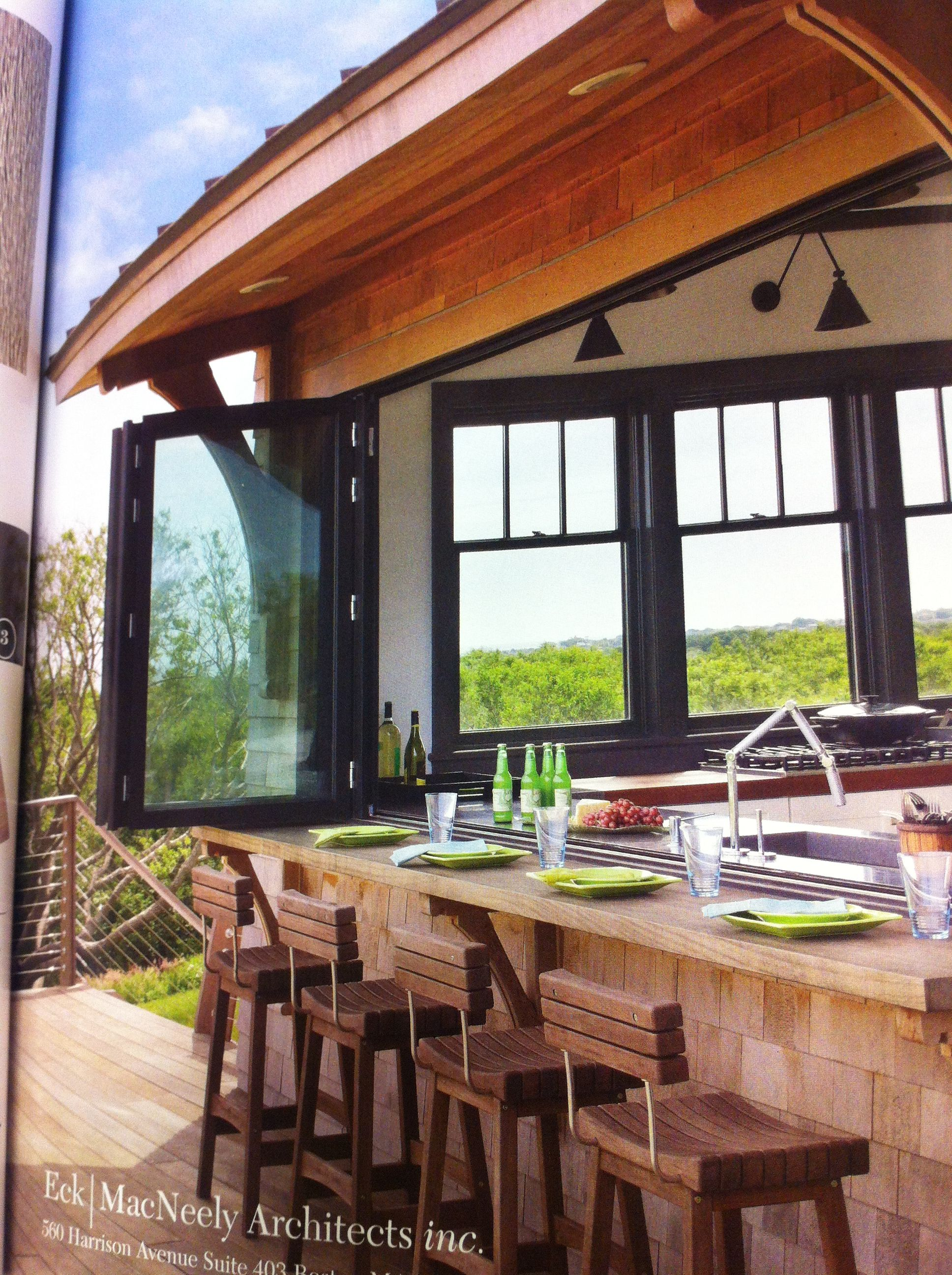 Accordion Windows Fold Up To An Outdoor Bar Awesome My Dream Home New Homes House
