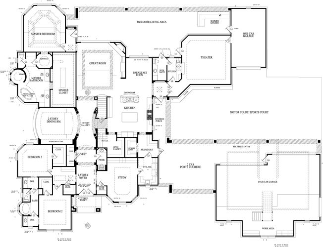 ranch house plans with porte cochere house design plans