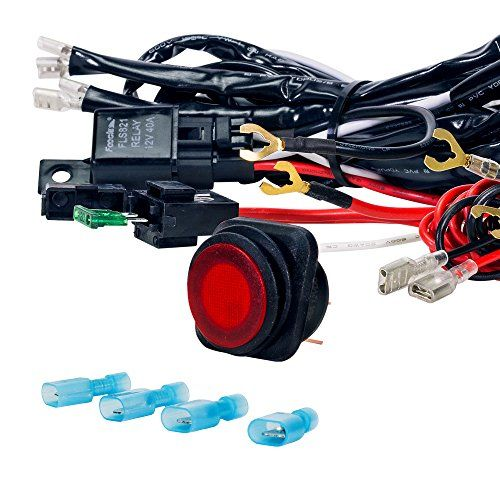 40 Off Road Atvjeep Led Light Bar Wiring Harness Relay On Schematic