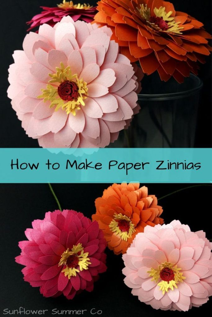 How to Make Paper Zinnias #easypaperflowers