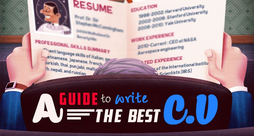Cv writing is the first step towards professional life