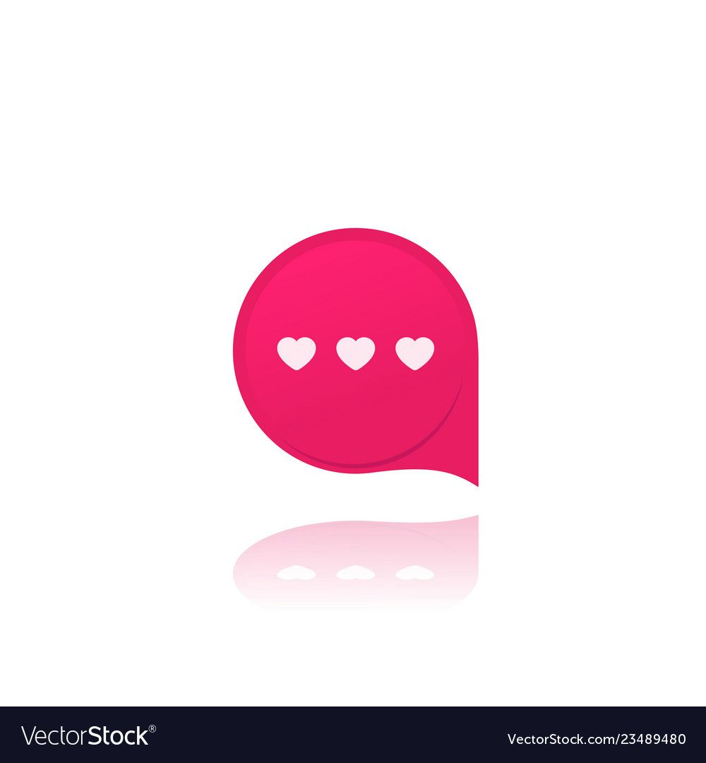 Dating app love chat icon Royalty Free Vector Image