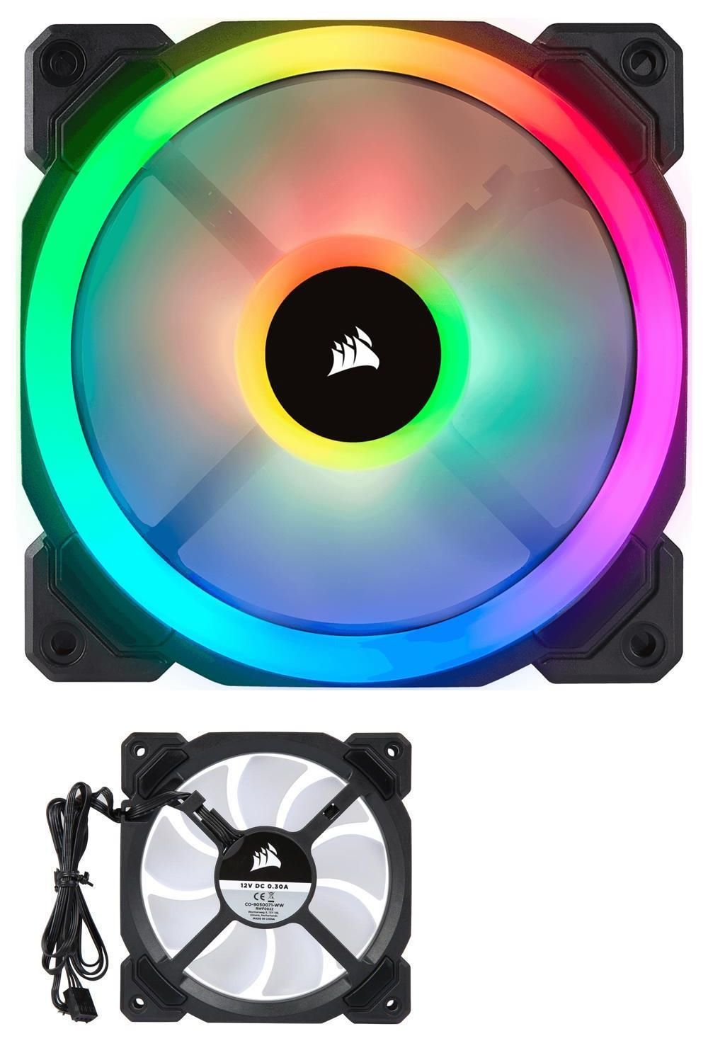Fans Heat Sinks And Cooling 42000 Corsair Ll Series Ll120 Rgb 120mm Dual Light Loop Rgb Led Pwm Fan Co 9050071 Ww Buy Rgb Led Computer Case Best Computer