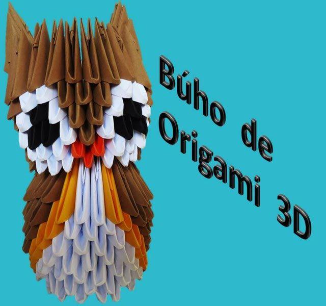 Aprende a hacer un lindo búho de papel con origami en 3D.: Búho de Origami 3D