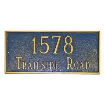 Fitzwilliams 2 Line Wall Address Plaque Address Plaque House Address Sign New Homeowner Gift