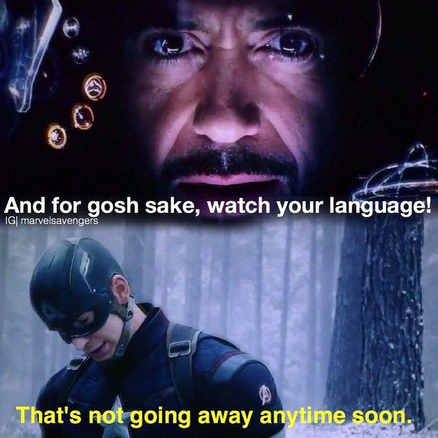 "Age of Ultron. ""Language!!"""