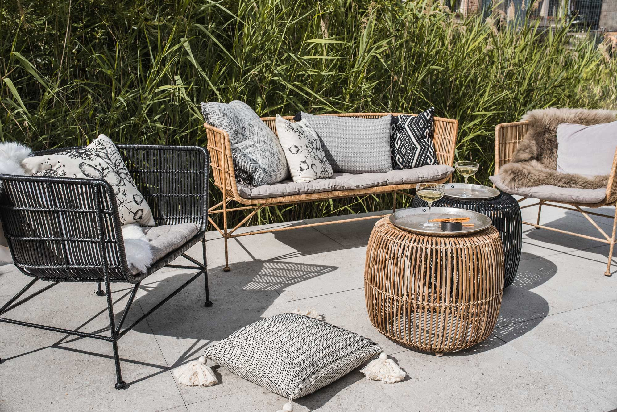 House Doctor Berlin House Doctor Hocker Rattan Ø52x46cm Natur In 2019 Balkon