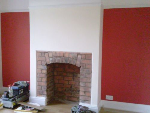 Image result for plaster around a fireplace | Arched Brick ...