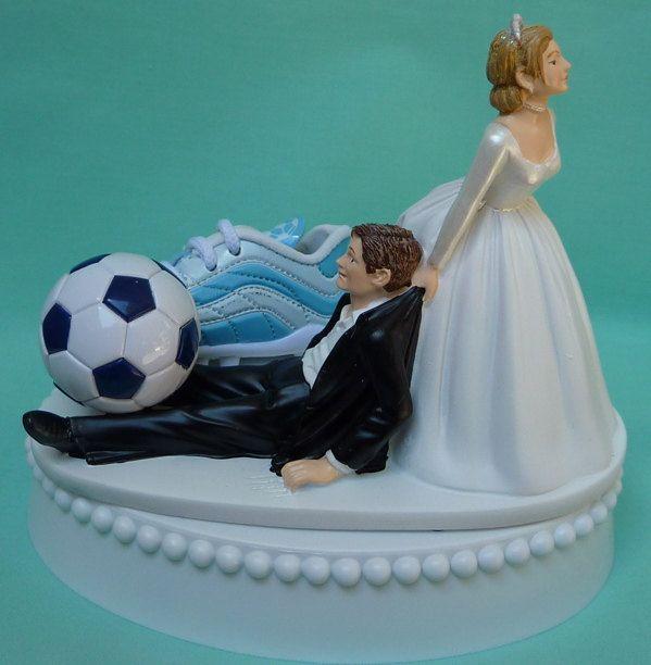Wedding Cake Topper Soccer Player Fan Ball Shoe Sports By WedSet