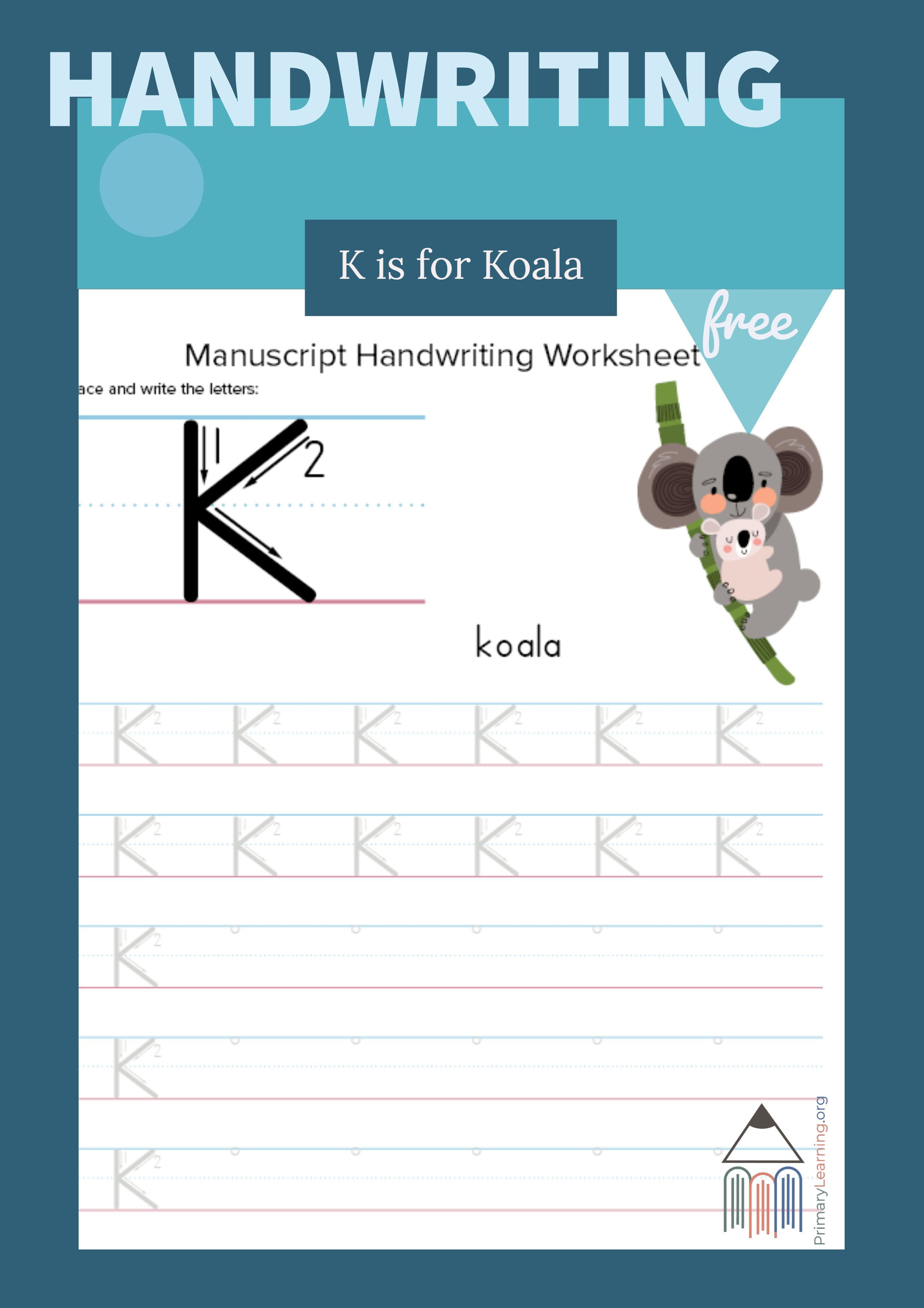 Writing And Tracing Letter K