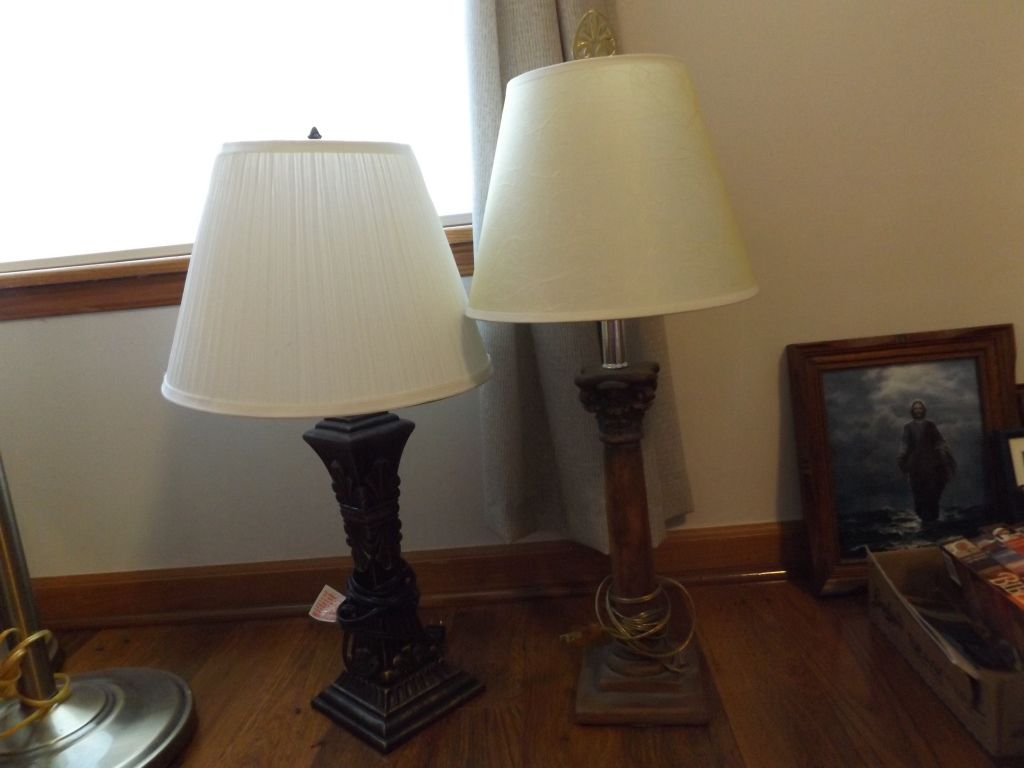 Two Table Lamps Lamp Table Lamp Table