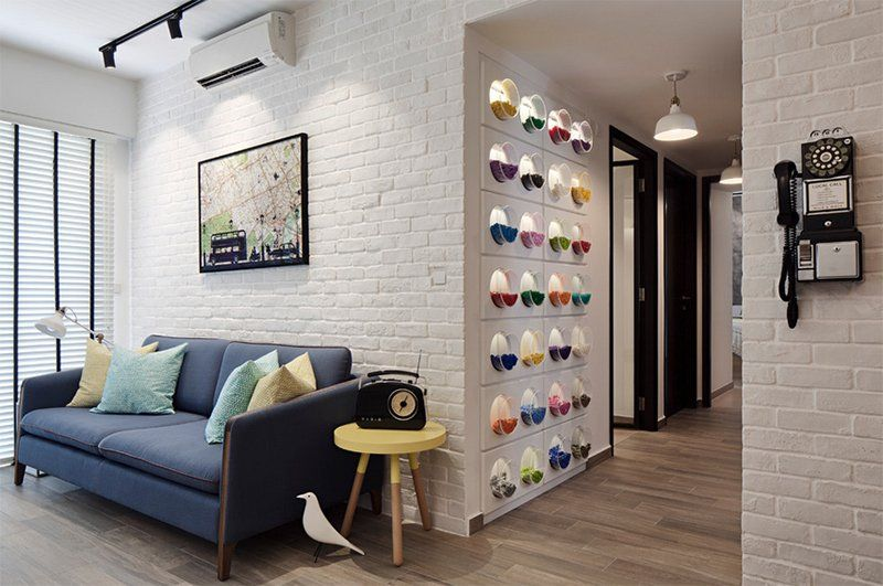 25 Living Rooms With White Brick Walls Home Design Lover White Brick Wall Living Room Brick Interior Wall Brick Wall Living Room