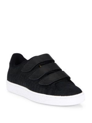 PUMA Basket Grip-Tape Suede Sneakers. #puma #shoes #sneakers