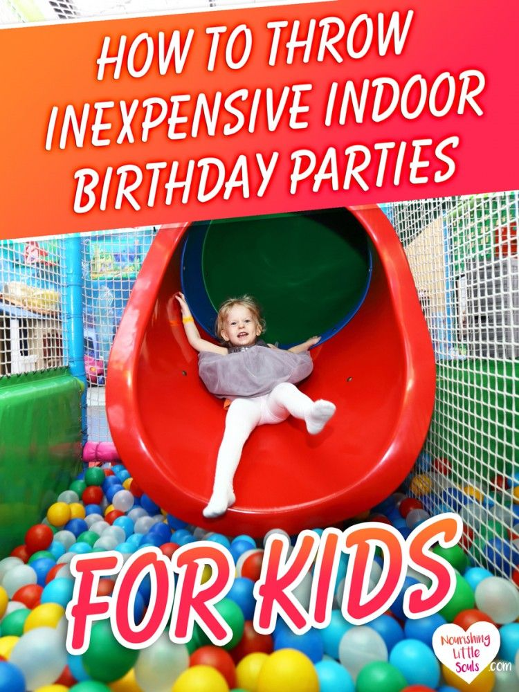 GREAT tips for throwing an indoor birthday party on the