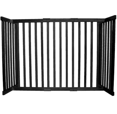 Small Tall Free Standing Pet Gate Black