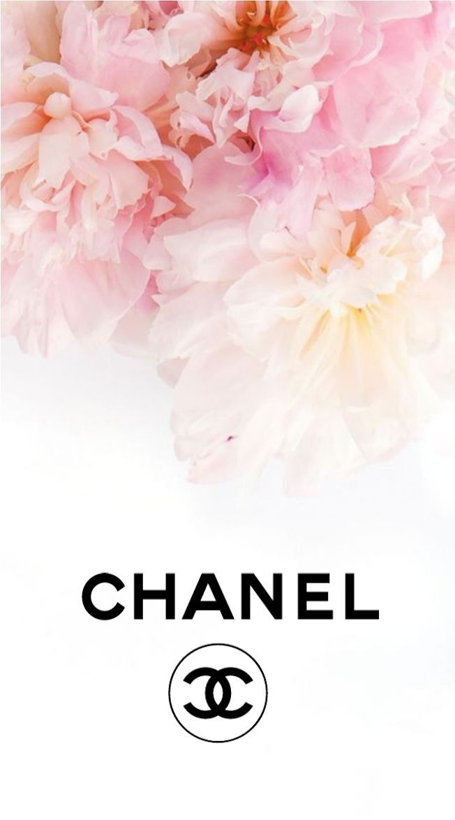 Chanel Logo Flowers Iphone Background Background Chanel
