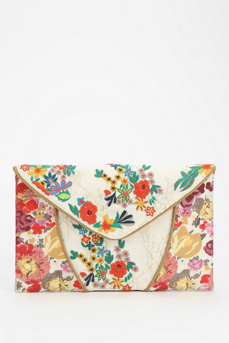 Kimchi Blue Embroidered Lace Crossbody Clutch - Urban Outfitters