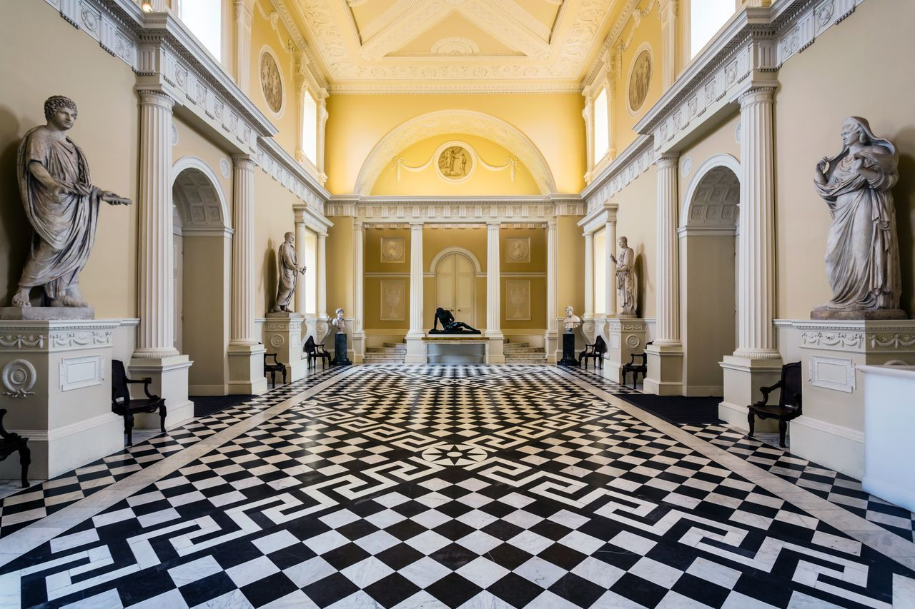 Syon House Entrance Hall Neo Classical Beautiful Rooms
