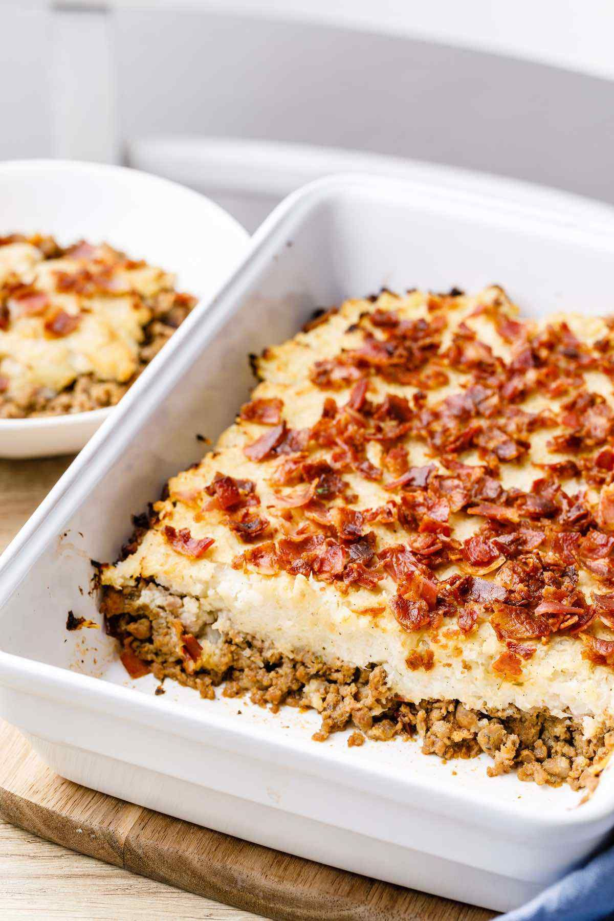 Double Bacon Ground Beef Paleo Casserole Low Carb Paleo Grubs Paleo Ground Beef Paleo Casserole Ground Beef Recipes
