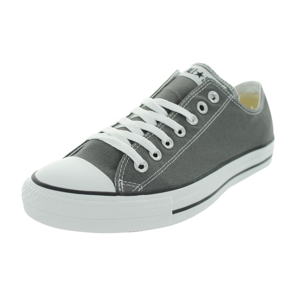 Converse Mens Chuck Taylor All Star Low Top Sneaker Charcoal M Canvas upper  Rubber toe cap Ox sneakers 353d00e2f