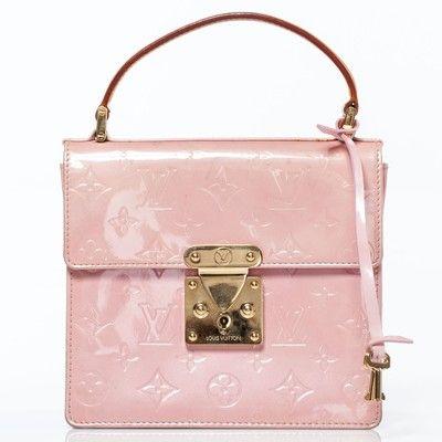 109cbe2029329 Louis Vuitton Vernis Spring Street Marshmallow Bag