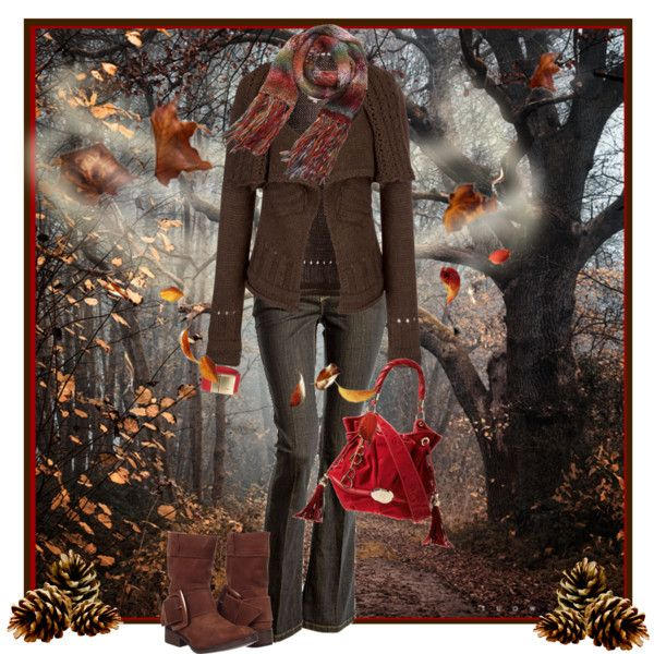 A Windy Walk in the Woods, created by johnna-cameron on Polyvore