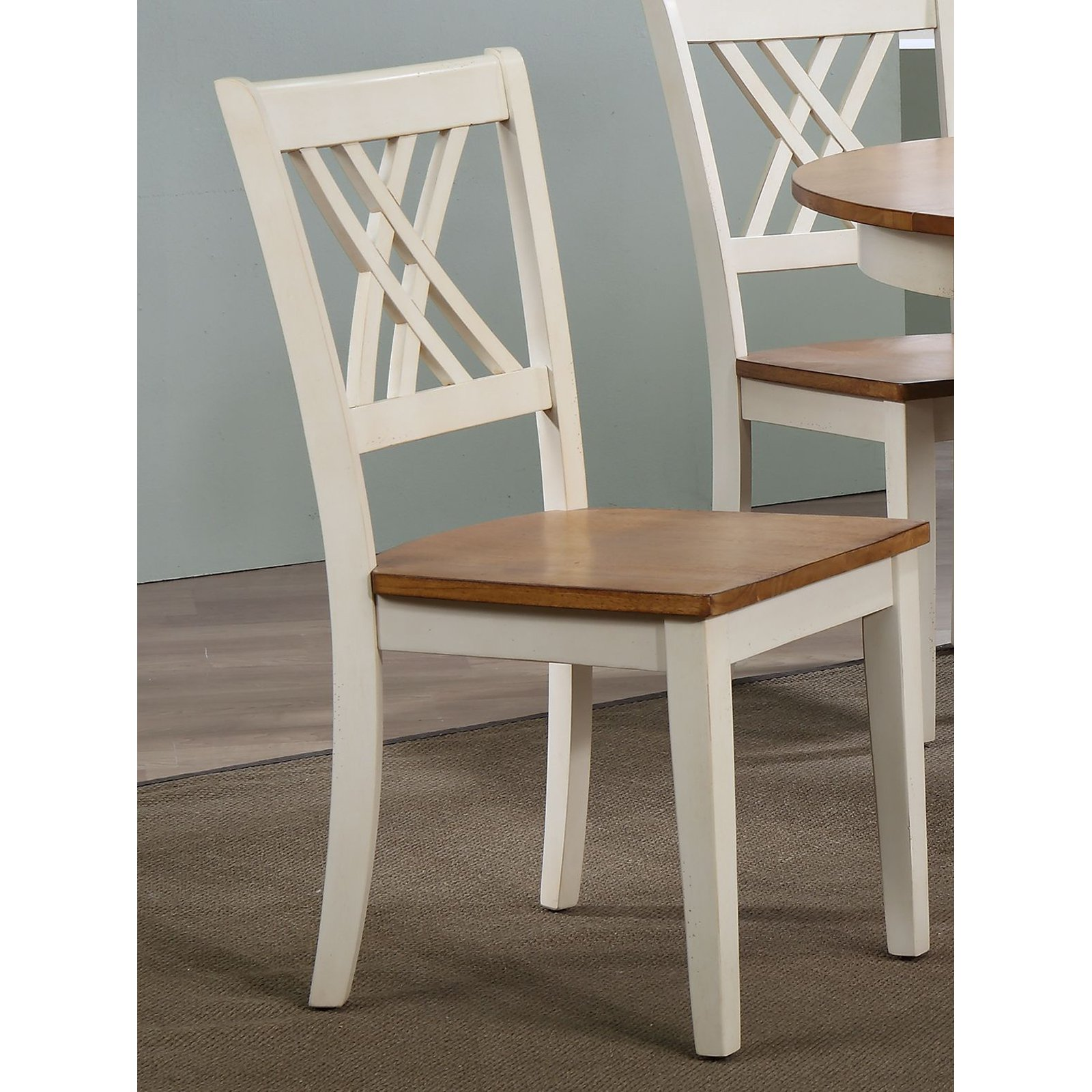 Brilliant Iconic Furniture Double X Back Dining Chair Set Of 2 Beatyapartments Chair Design Images Beatyapartmentscom