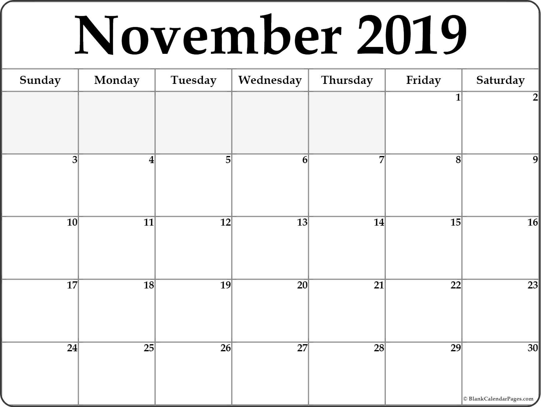 photograph relating to Printable Calendar November identify November 2019 Calendar #November #November2019