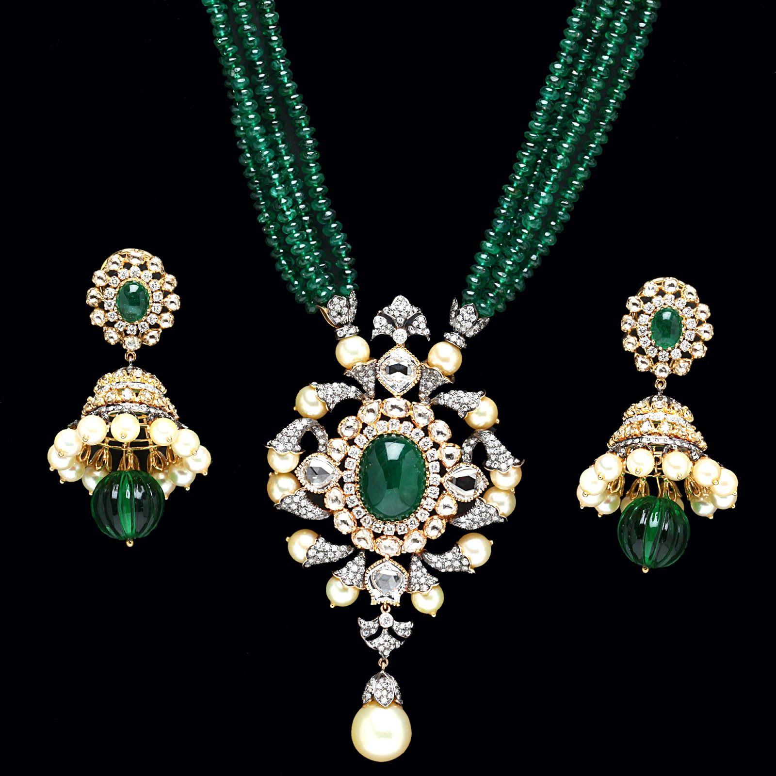 75f786ce27 Tribhovandas Bhimji Zaveri Jewellery Designs | Emerald Pendant sets from PC  Jewellers.. ~ Jewellery Deals