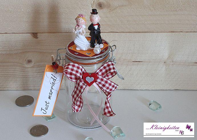 Just Married Geldglas Hochzeit Geldgeschenke Von Kleinigkeiten Von