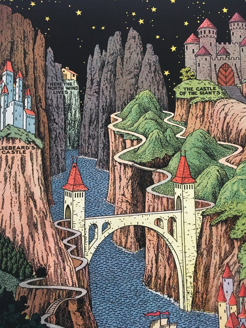 The Land Of Make Believe By Jaro Hess 1930 Etsy In 2021 Dark Fantasy Art Make Believe Jaro