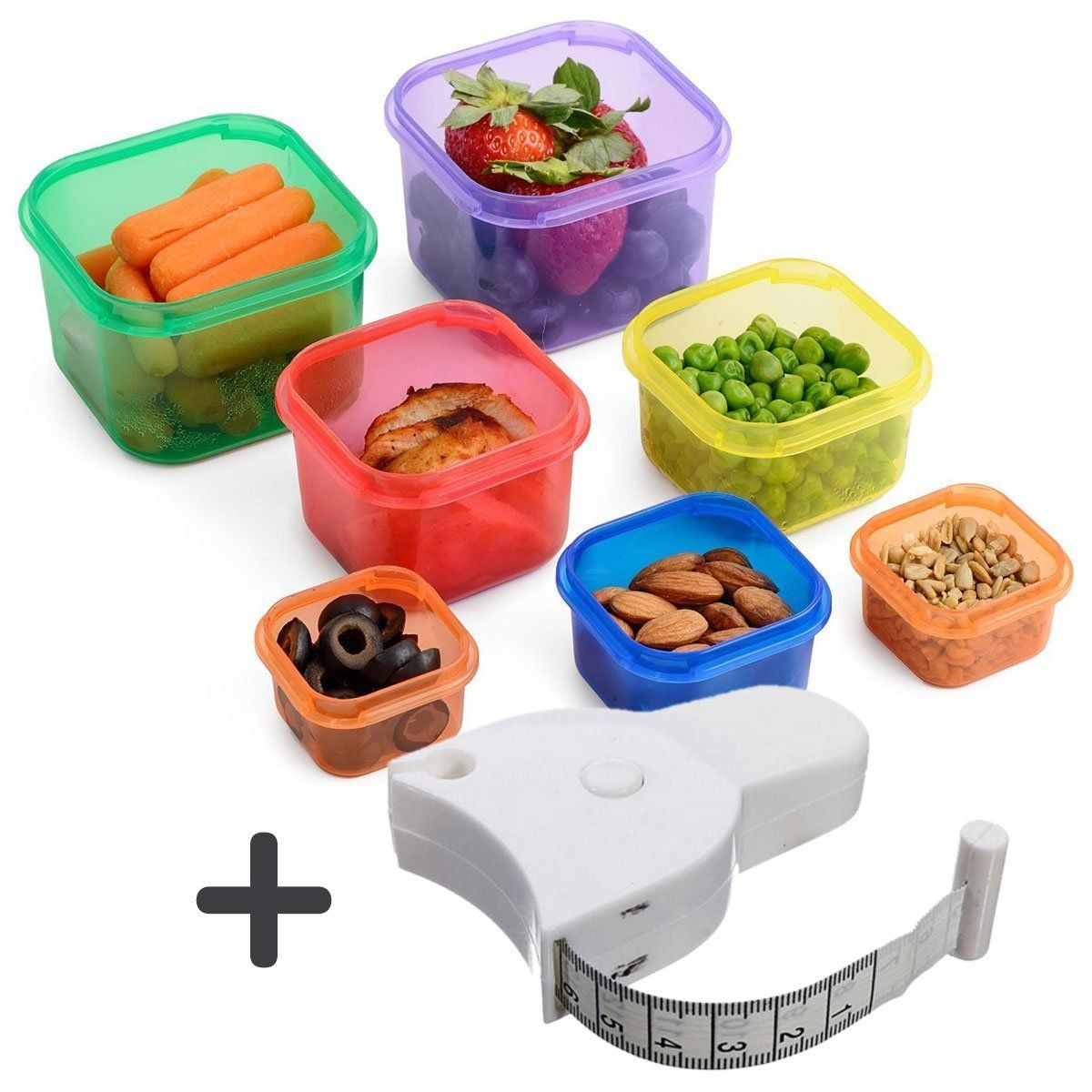 Amazon.com: Joy of Kitchen Portion Control Containers (7 pcs ...
