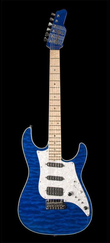James Tyler Guitars Studio Elite Deluxe Yuji Special Transparent Blue