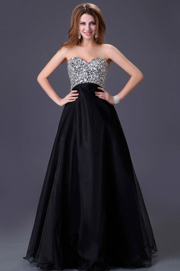 Strapless Sequined Beaded Prom Dress | Prom Goals | Pinterest | Ropa ...