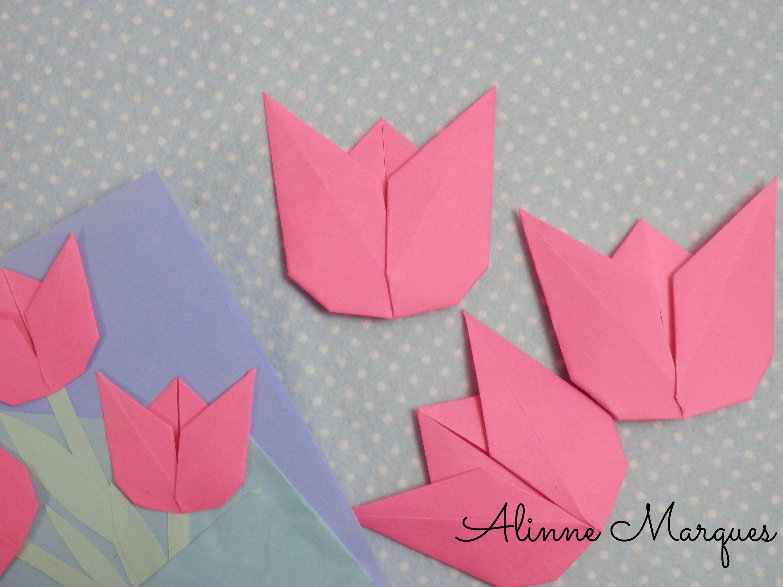 Origami Tulipa 2 Pinterest Origami