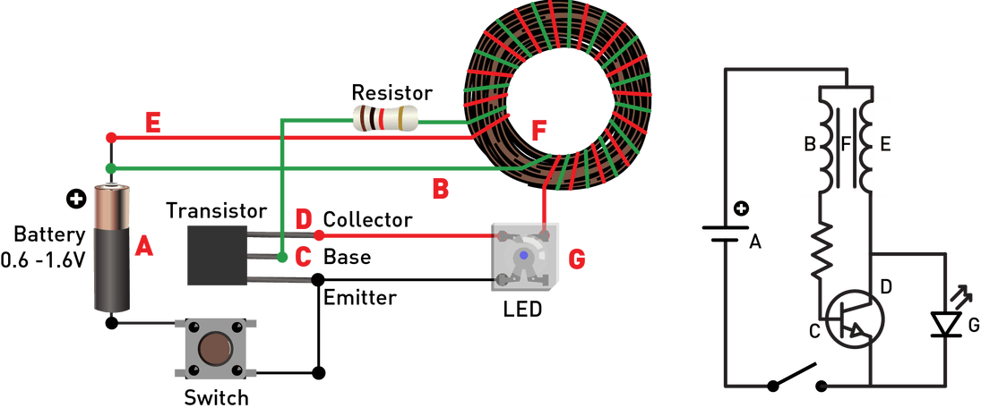 Led Wiring Circuit Diagram In Addition Joule Thief Circuit Schematic