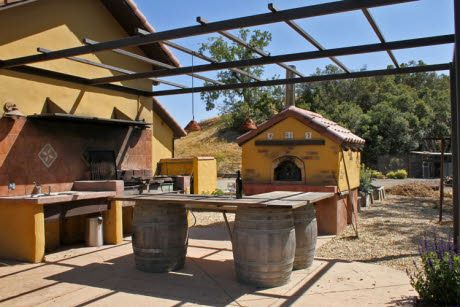 The Color Is Horrible But I Set Up Is Excellent Outdoor Kitchen Pergola Outdoor Kitchen Design