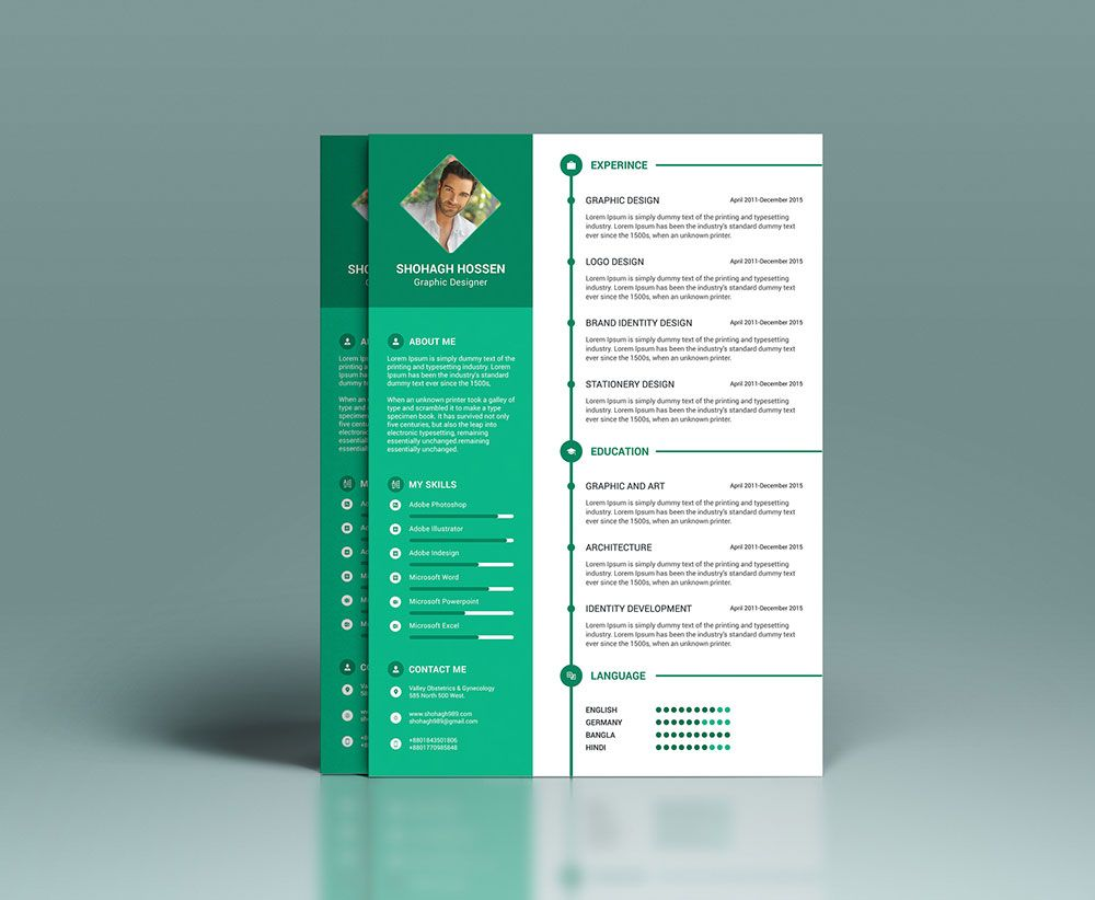 Free-Clean-Resume-Design-Template-in-PSD-Format-(4) | Resume PSD ...