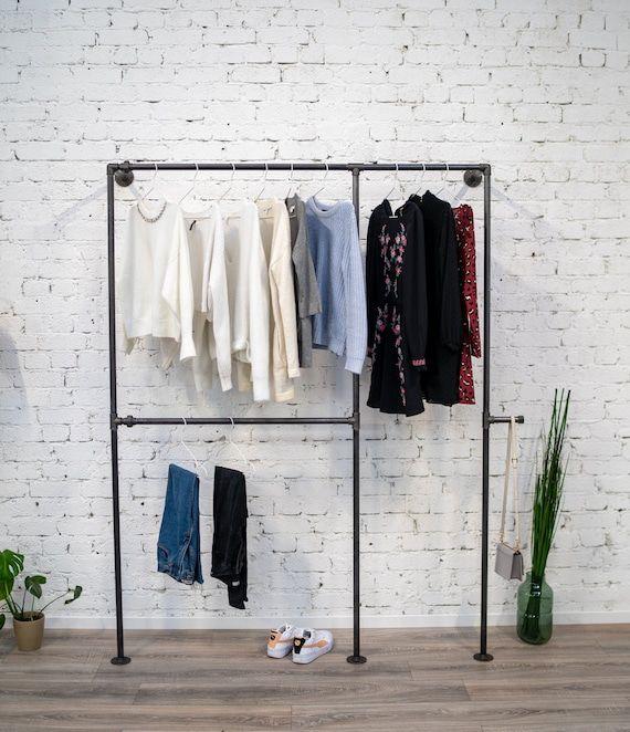 B'rum - Steel clothes rack   Industrial   Retro   Vintage Design    Wardrobe - Clothes rack - Wall f