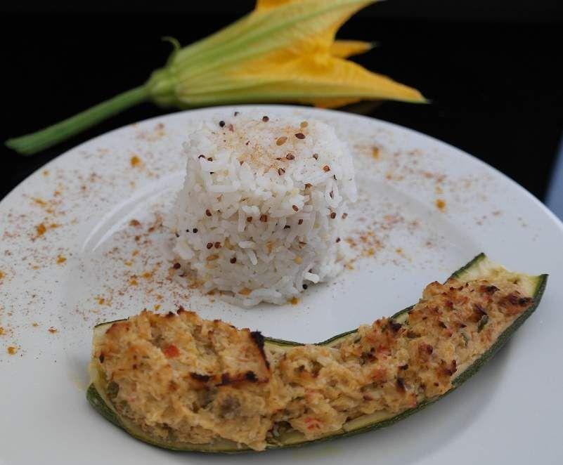 Recette Courgettes farcies exotiques (poisson et noix de coco) par sandrine-05 - recette de la catégorie Plat principal - divers